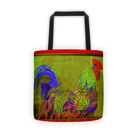 Bert the Rooster Red Tote bag