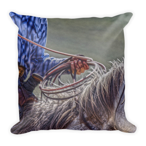 Ropin' it Rough Throw Pillow