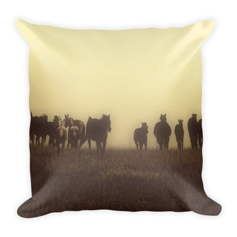 Last Run at Dusk Throw Pillow
