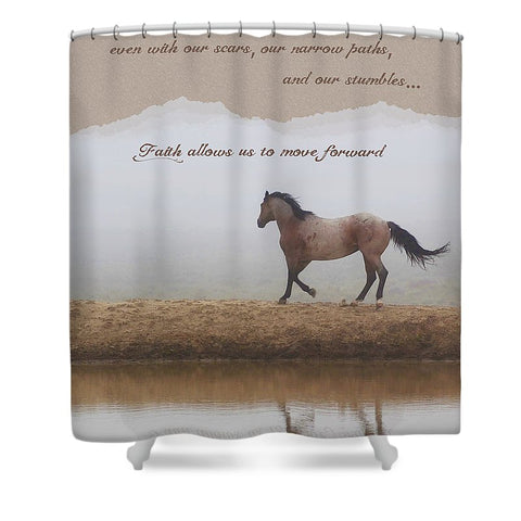 Mystical Beauty Inspirational Shower Curtain