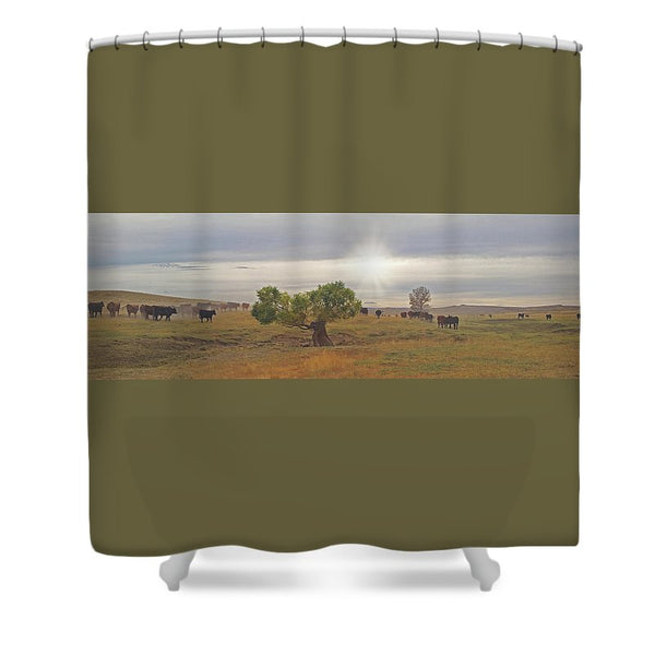 October Drive Shower Curtain