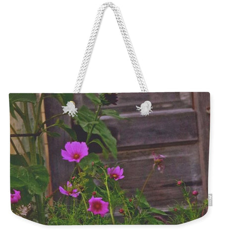 Old Kitchen Door And a Cottage Garden Weekender Tote bag