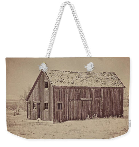 Old Wood Reed's Place Weekender Tote bag
