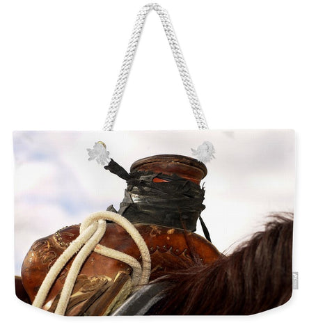 Open Range Roping Saddle Weekender Tote bag