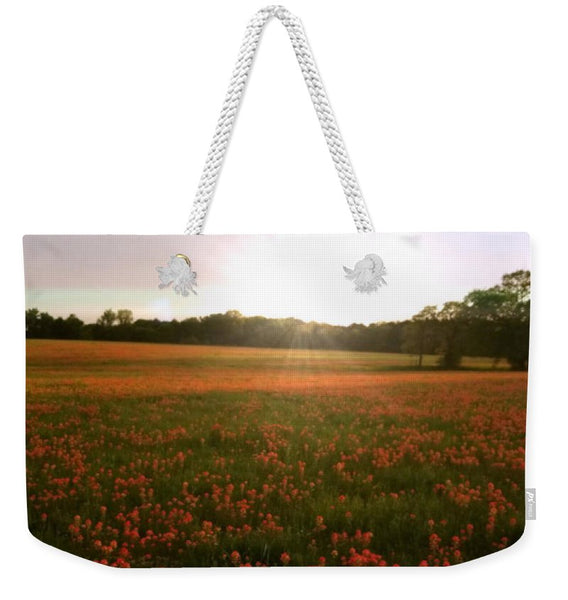 Paintbrush On Gods Canvas Weekender Tote Bag