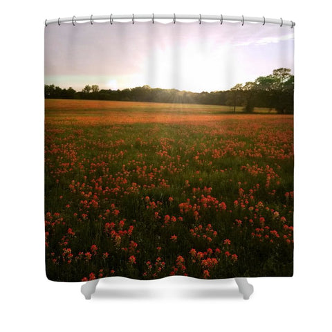 Paintbrush On Gods Canvas Shower Curtain