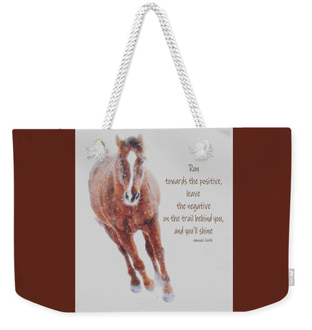 Positively Sundancing Inspirational Weekender Tote bag