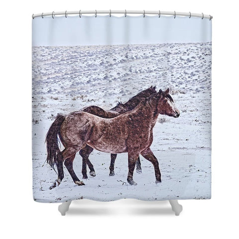 Prancing in the Snow Shower Curtain