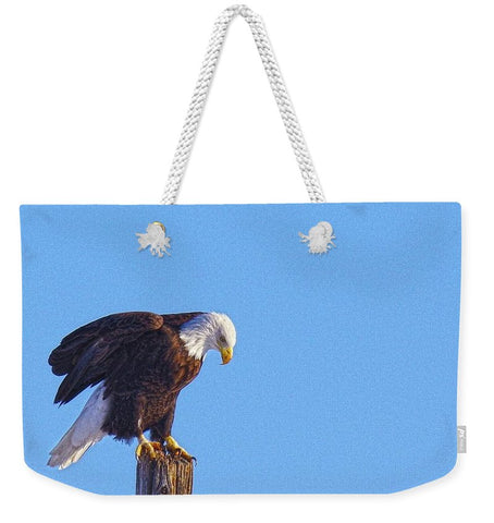 Preparing for Patriotic Flight Eagle Weekender Tote bag