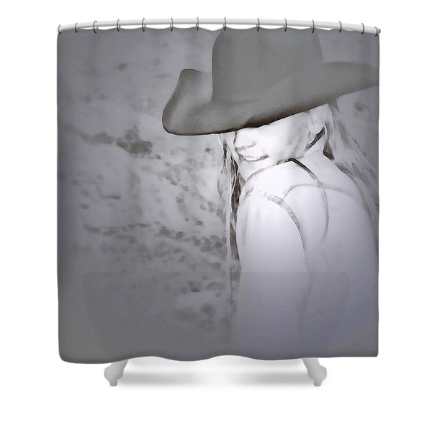 Rainy Day Cowgirl Shower Curtain