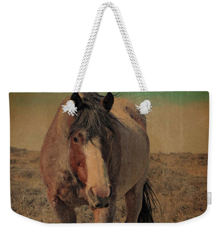 Red Roan and Sage Brush Weekender Tote bag