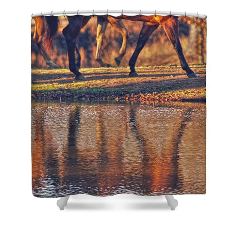 Running Reflection Shower Curtain