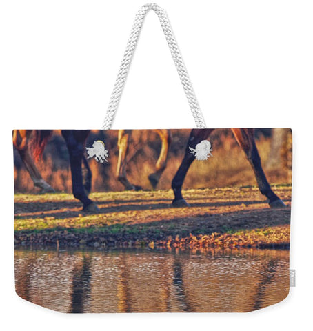Running Reflection Weekender Tote Bag