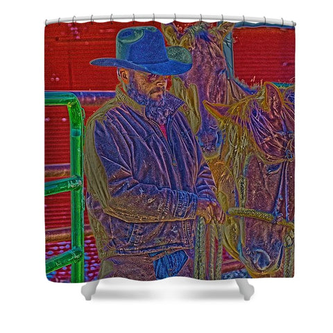 Retro Vintage Cowboy Shower Curtain