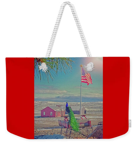 Roger and The American Flag Weekender Tote bag