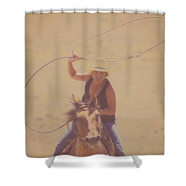 Rope 'em While They're Hot Shower Curtain