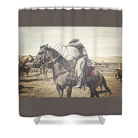 Roped and Ready Shower Curtain