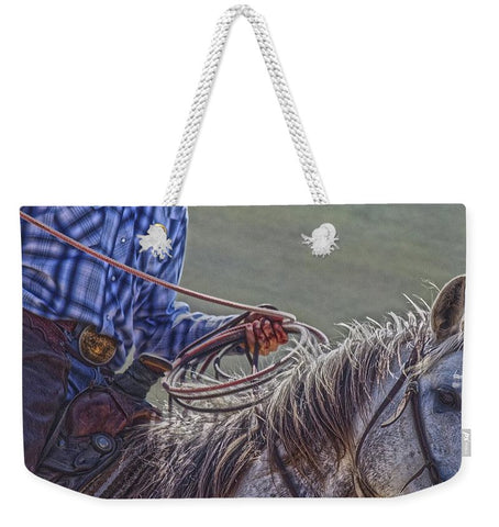 Ropin' it Rough Weekender Tote bag