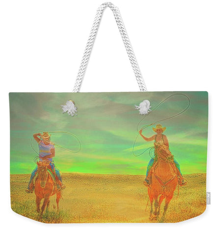 Ropin' Two Weekender Tote bag