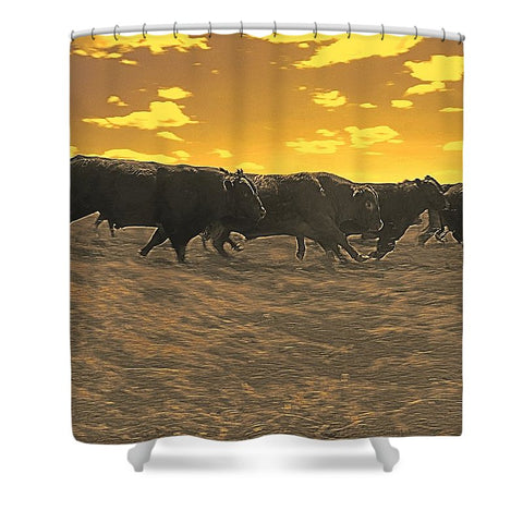 Running with the Boys Shower Curtain