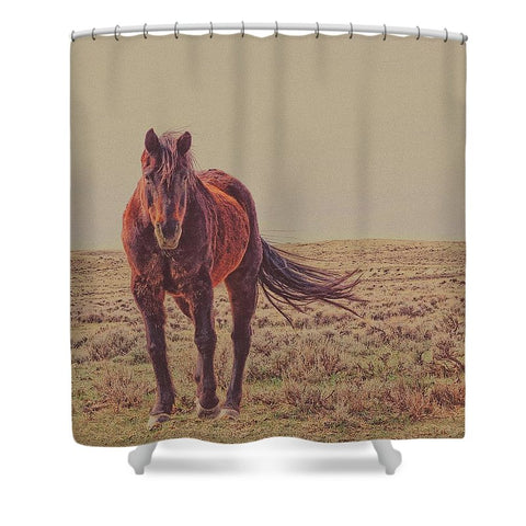 Rust And Prairie Wise Shower Curtain