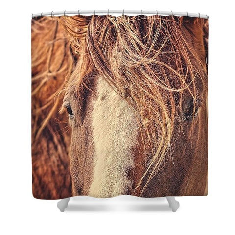 Rustic Eyes Shower Curtain