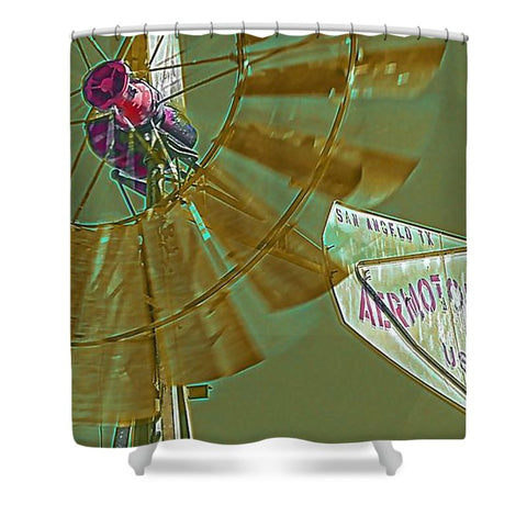 Rustic Texas Wind Shower Curtain