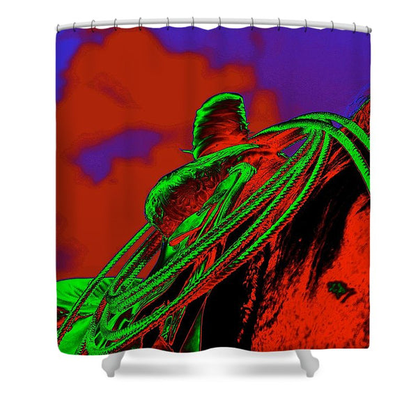 Saddle Electric Red Shower Curtain