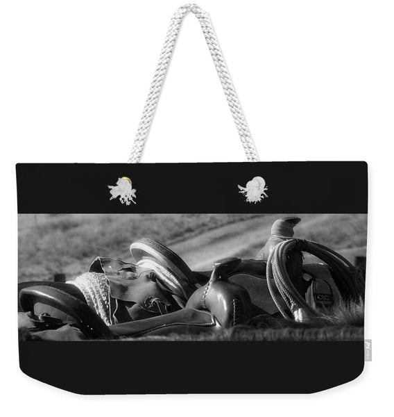 Saddles at the Ready Weekender Tote bag