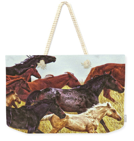 Spirit Races on the Prairie Weekender Tote bag