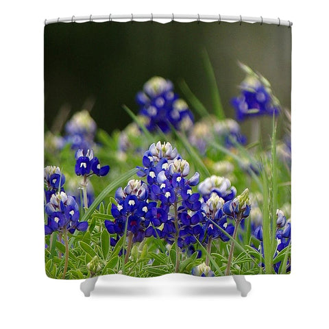 Springtime In Blue Shower Curtain