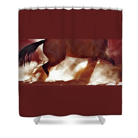 Stop and Turn Shower Curtain