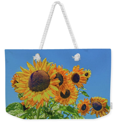 Sun and Flower Conversation Weekender Tote bag