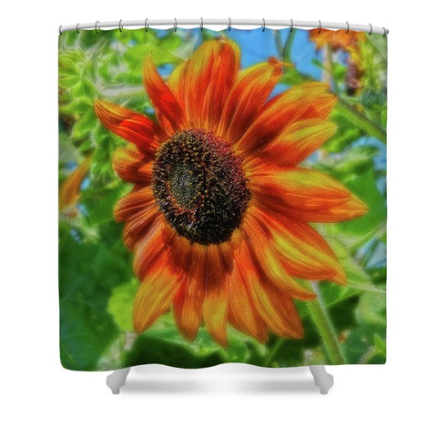 Sun Shower Sunflower Shower Curtain