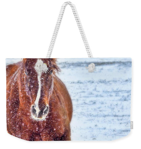 Sundancing in the Snow Weekender Tote bag