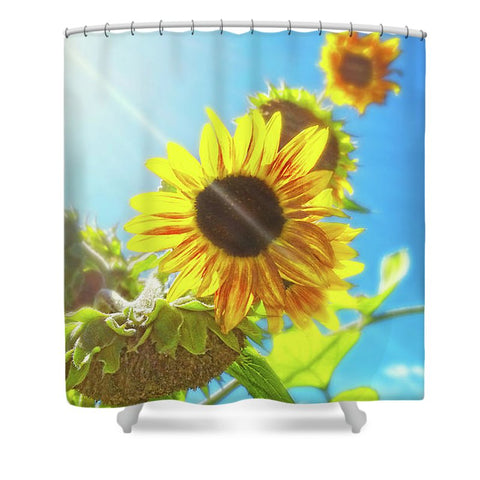 Sunflower and Sunlight Shower Curtain