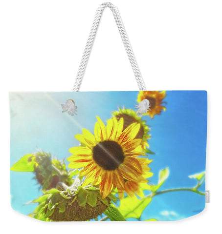 Sunflower and Sunlight Weekender Tote bag