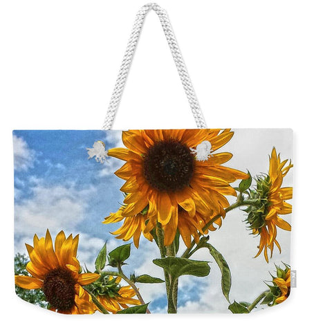 Sunflowers and Blue Weekender Tote bag