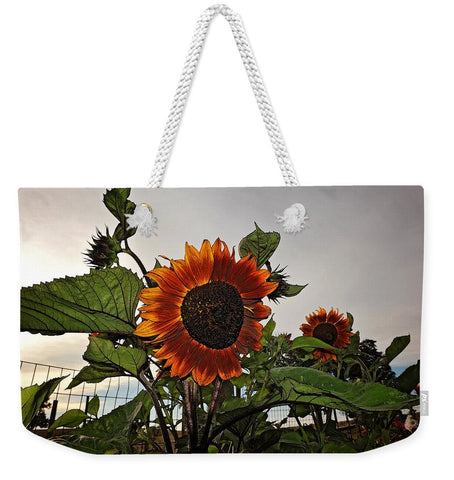Sunflowers and Storm Weekender Tote bag