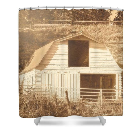 Sunny Daze Barn Shower Curtain