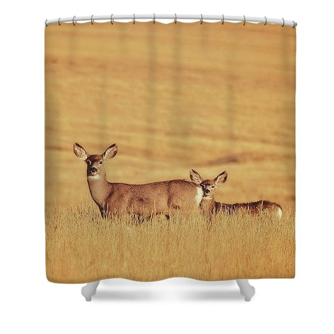 Sunset Deer Shower Curtain