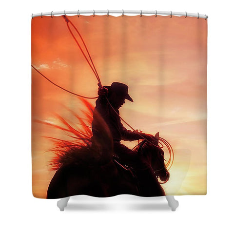 Sunset Roper Shower Curtain
