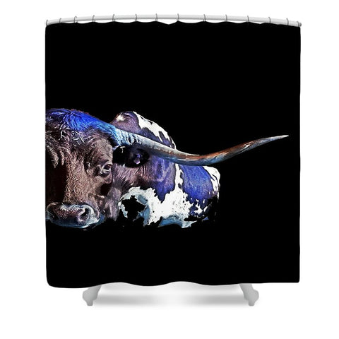 Texas in the Moonlight Shower Curtain