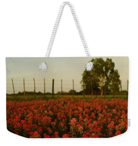 The Red Paint Of Texas Weekender Tote Bag