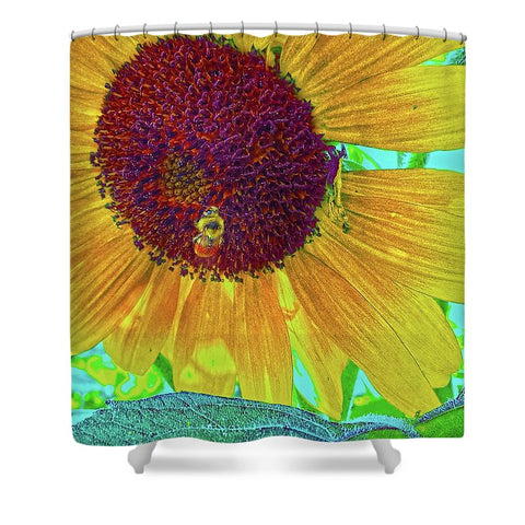 The Sunflower and The Bee Shower Curtain