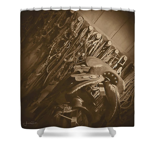 The Tack Room Shower Curtain