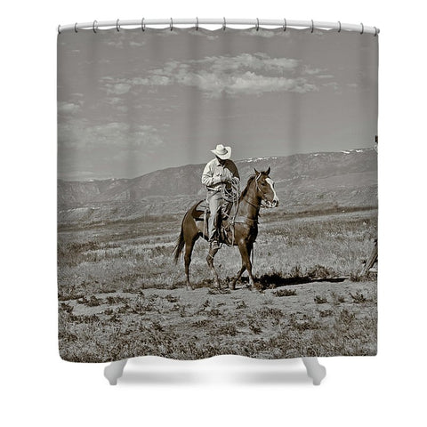 Those Wild Montana Skies Shower Curtain