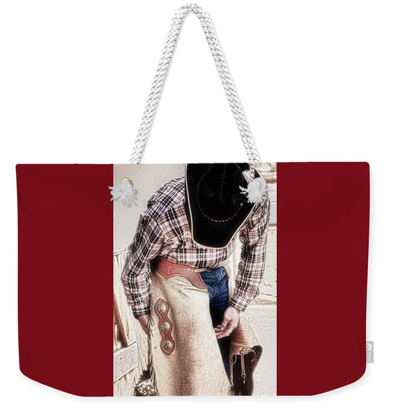 Three Crosses For The Ride HDR Weekender Tote bag