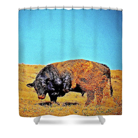 Throwing Sand Shower Curtain