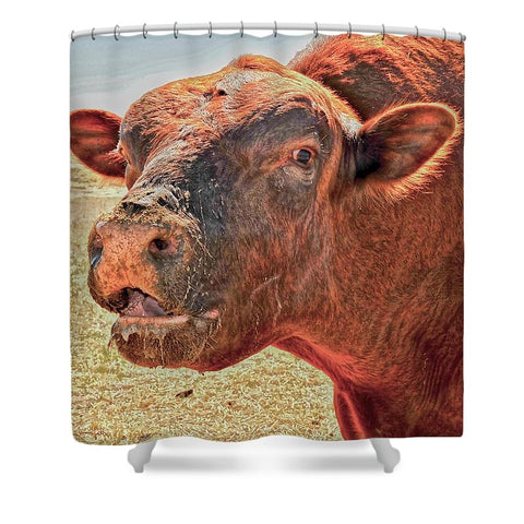 Too Close for Bull Shower Curtain